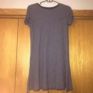love, Fire ribbed navy blue and white dress size s